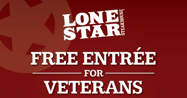 FREE ENTRÉE FOR VETERANS